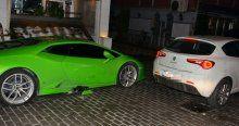 Asena Erkin'in Lamborghini'si paramparça oldu