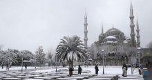 Beyaza bürünen İstanbul'dan manzaralar