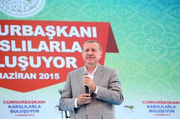 Cumhurbaşkanı Erdoğan Kars'ta