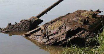 Nehrin içinden efsane Rus tankı çıktı