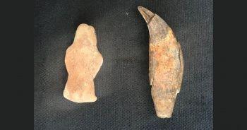 Yeşilova Höyüğü'nde 8 bin yıllık ayı heykelciği bulundu