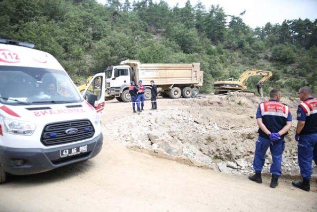 Yol yapım çalışmasında korkunç ölüm