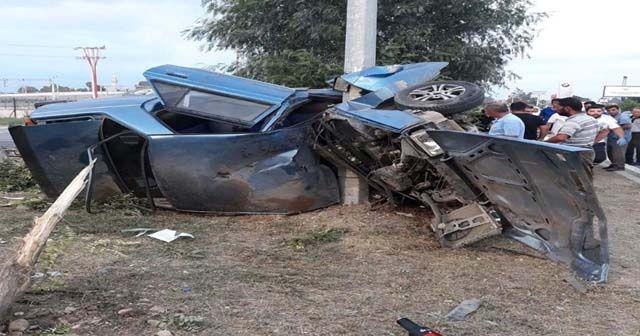 Korkunç kazada feci şekilde can verdiler!