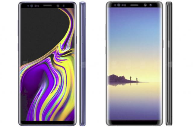 Galaxy Note 9 ve Note 8 karşılaştırması