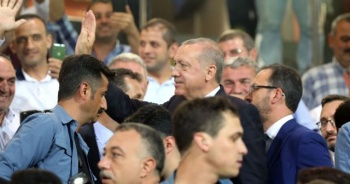 Cumhurbaşkanı Erdoğan, Rize'de maç izledi