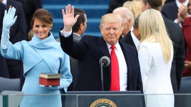 Donald Trump yemin töreni fotoğraflarında hile yapmış