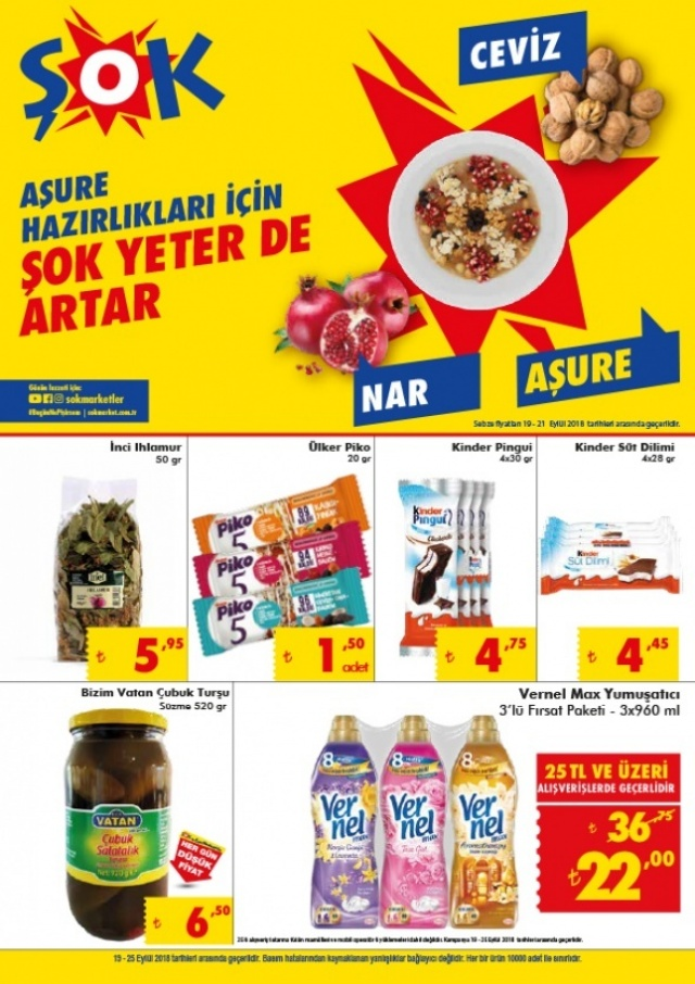 ŞOK MARKET 22-25 Eylül İndirimli Ürünler Kataloğu!   ŞOK MARKET haftasonu indirimli ürünler listesi burada