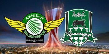 Akhisarspor - Krasnodar maçı canlı izle