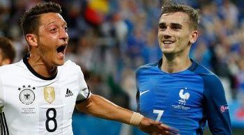Almanya - Fransa maçı geniş özeti izle