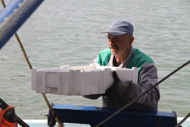 Düzce Akçakoca'da balıkçılar tonlarca palamutla limana döndü