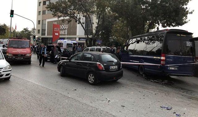 Ankara'da zincirleme trafik kazası: 10 yaralı