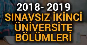 2018-2019 Sınavsız İkinci Üniversite Bölümleri
