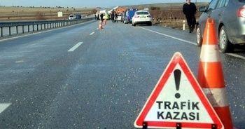 Başkanlar trafik kazası geçirdi