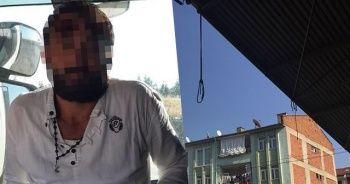 Evinin çatısına bağladığı iple kendisini astı, son anda kurtarıldı
