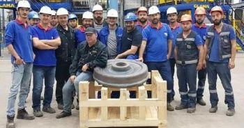 Türkiye'nin ilk tren tekerinin deneme üretimi yapıldı
