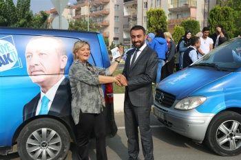 Ünlü Sanatçı Müşerref Akay bu defa siyaset için Aydın'a geldi