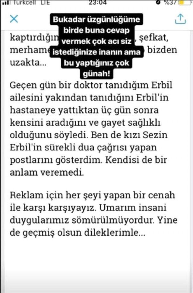 Sezin Erbil isyan etti! Mehmet Ali Erbil'in durumu...
