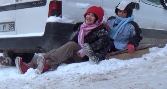 O ilçemizde okullara 2 gün kar tatili