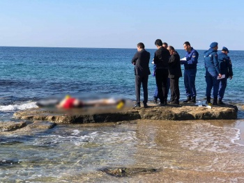 Antalya'da denizde şoke eden manzara