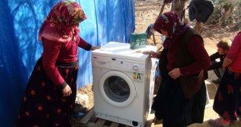 Hayatlarında ilk kez çamaşır makinesi gördüler!