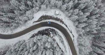 O ilimizde ilk kar yağdı! Ortaya bu görüntüler çıktı