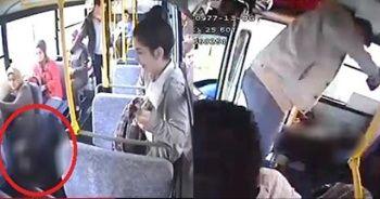 Otobüs bir anda karıştı! Ne yapacaklarını bilemediler...
