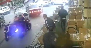 Polisten kaçmak isterken ortalığı birbirine kattı!