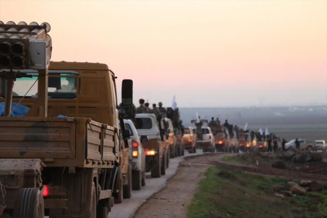ÖSO birlikleri Münbiç'e sevk edildi