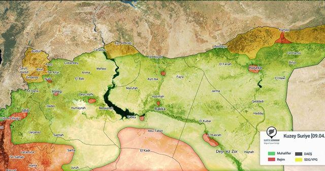 2013-2018 yılları arasında Suriye'nin kuzeyinde yaşanan değişim