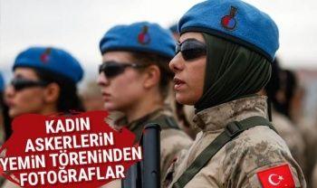 Kadın askerlerin gösterileri nefes kesti
