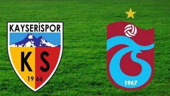 Kayserispor - Trabzonspor maçı golleri özeti izle