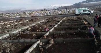 Ölüm gerçeğini hatırlatan fotoğraflar! Erzurum'da 600 mezar kazıldı