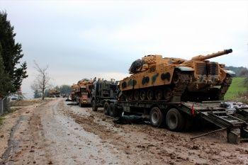 Suriye sınırına askeri sevkiyat hız kesmeden devam ediyor