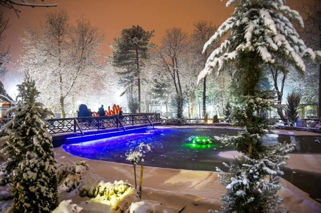 Malatya'da kartpostallık kar manzaraları