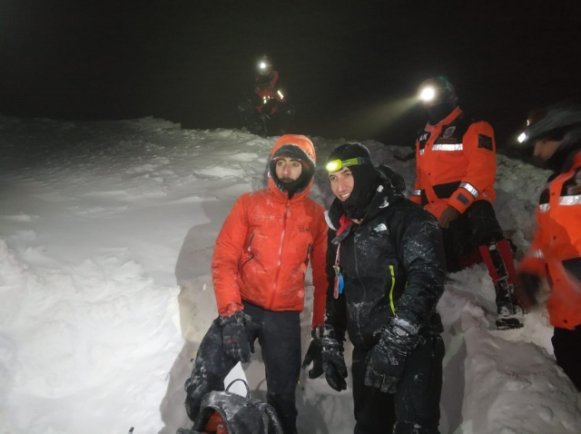 Uludağ'da 2 dağcının kurtarılma anları ortaya çıktı