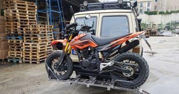 Motosiklet taşıma aparatı yapım ve montajı