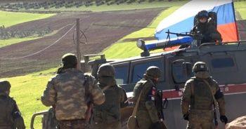Rus ordusu ve YPG'li teröristlerden Münbiç'te ortak devriye!