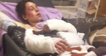 5 aylık hamile eşini öldüresiye dövdü