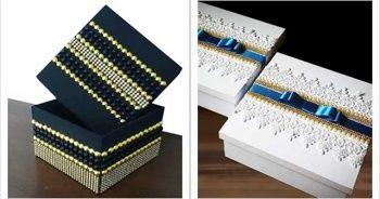 Kutu Süsleme Nasıl Yapılır, Teneke Plastik Karton Kadife Kutu Süsleme Kurdele