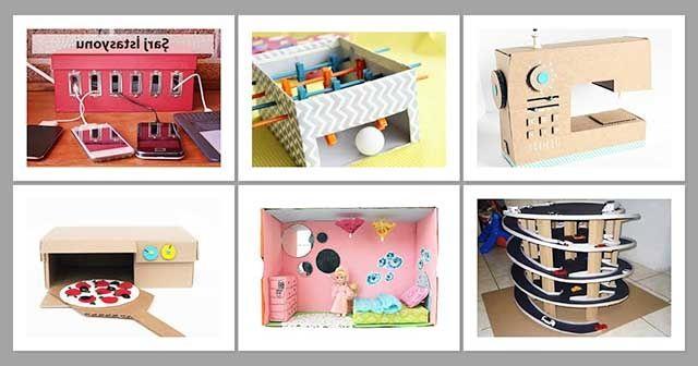 Kartondan Yapılan Tasarımlar Karton Kutudan Boş Kutulardan Neler Yapılır