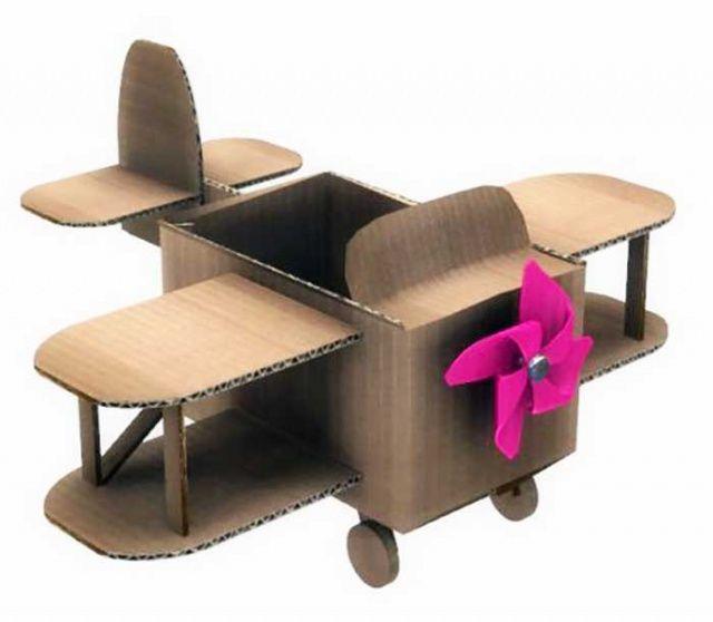 Karton Kutudan UçakYapımı Kartondan