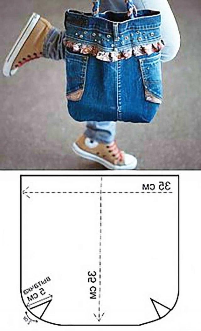 Kottan Torba Çanta Yapımı Kot Çanta Modelleri Uygulamalı Resimli Anlatım