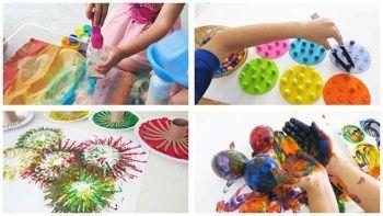 3-4-5-6 Yaş Çocuğu Eğitici Etkinlikler Kum Karton Balon Boncuk Dizme Oyunları