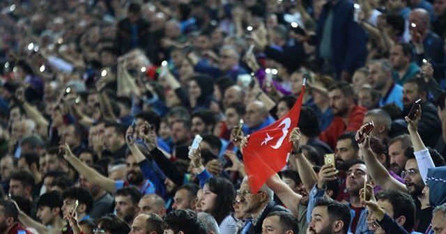 Trabzonspor, Gaziantep FK maçında ekranda yansımayan kareler!