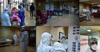 İstanbul'daki sağlık savaşçılarının Korona ile mücadelesi böyle görüntülendi