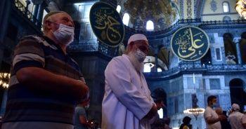Vatandaşlar Ayasofya Camii'ne alındı