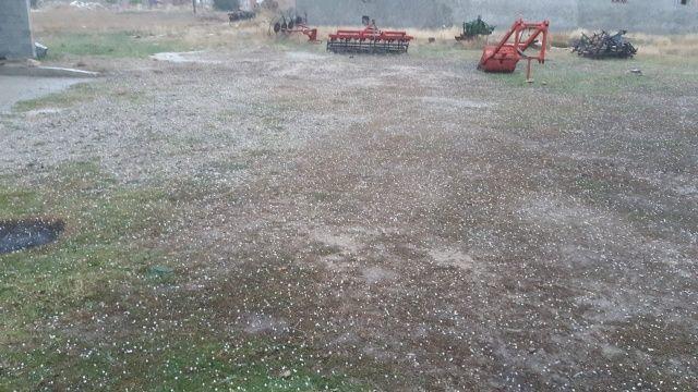 Bir anda yağdı! Etraf beyaza büründü