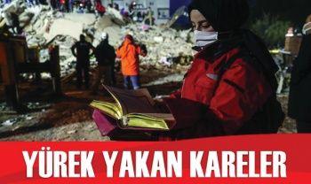 Deprem sonrası yürek yakan fotoğraflar