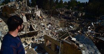 Gence'deki saldırının enkazı görüntülendi