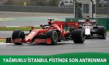 İstanbul'daki zorlu yarış öncesi son antrenmanda